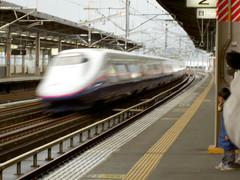新幹線通過