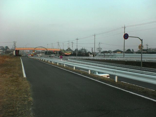 夕方の上武国道